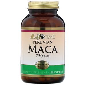 Лайф Тайм, Peruvian Maca, 750 mg, 120 Capsules отзывы