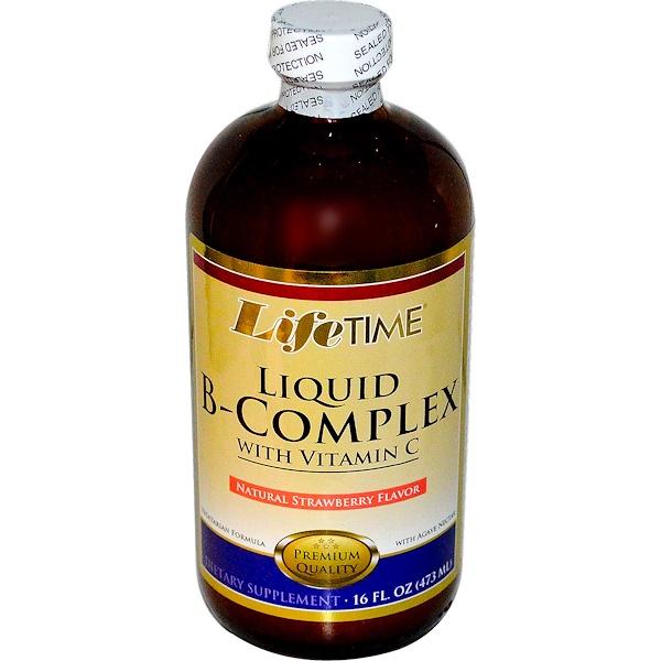 LifeTime Vitamins, Liquid B-Complex with Vitamin C, Natural Strawberry Flavor, 16 fl oz (473 ml) (Discontinued Item)