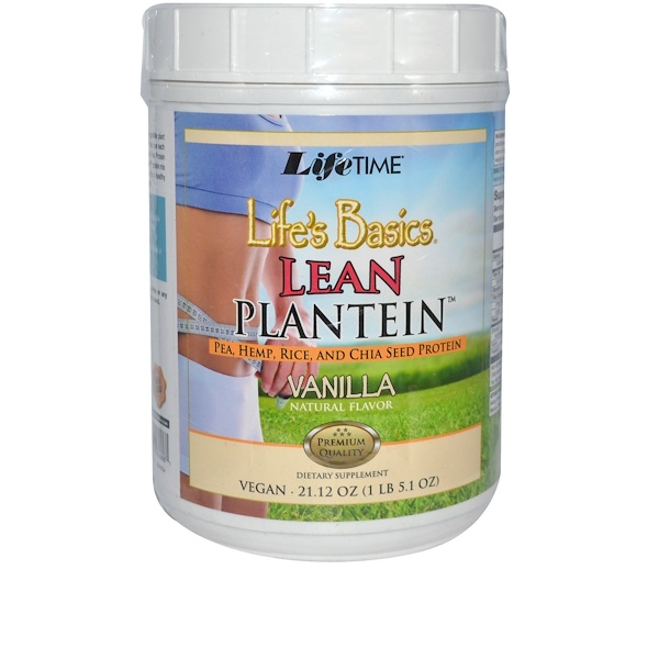 Life Time, Life's Basics, Lean Plantein, Vanilla Natural Flavor, 21.12 oz (Discontinued Item)