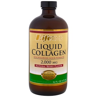 Life Time, Liquid Collagen with Hyaluronic Acid & Vitamin D3, Natural Berry Flavor , 2,000 mg, 16 fl. oz (473 ml)