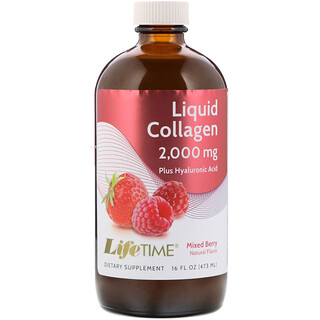 LifeTime Vitamins, Liquid Collagen with Hyaluronic Acid & Vitamin D3, Mixed Berry Flavor, 2,000 mg, 16 fl oz (473 ml)