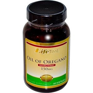 Лайф Тайм, Oil of Oregano, 150 mg, 60 Softgels отзывы