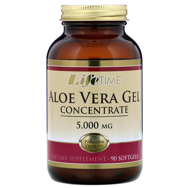 Aloe Vera Gel Concentrate, 5,000 mg, 90 Softgels