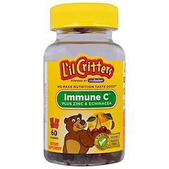 L'il Critters, Витамин C + цинк и эхинацея, 60 жевательных таблеток