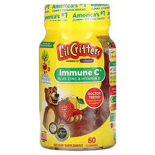 L'il Critters, Immune C Plus Zinc & Vitamin D, Assorted Flavors, 60 Gummies