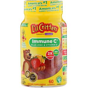 Лил Криттерс, Immune C Plus Zinc & Vitamin D, 60 Gummies отзывы покупателей