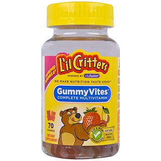 L'il Critters, Gummy Vites, Complete Multivitamin, Natural Fruit Flavors, 70 Gummies