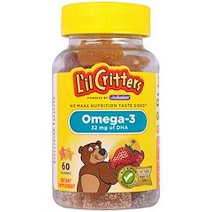 L'il Critters, Омега-3, 60 жевательных таблеток