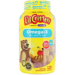 L'il Critters, Омега-3, со вкусом малины и лимонада, 120 жевательных конфет