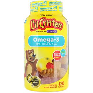 L'il Critters, أوميغا 3، نكهات التوت-عصير الليمون، 120 علكة