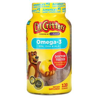 L'il Critters, Omega-3, Raspberry-Lemonade , 120 Gummies