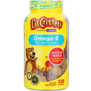 Лил Криттерс, Omega-3, Raspberry-Lemonade Flavors, 120 Gummies отзывы покупателей