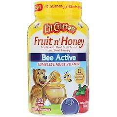 L'il Critters, Фрукты и мед, Bee Active, комплексный мультивитамин, натуральный ягодный вкус, 120 жевательных таблеток