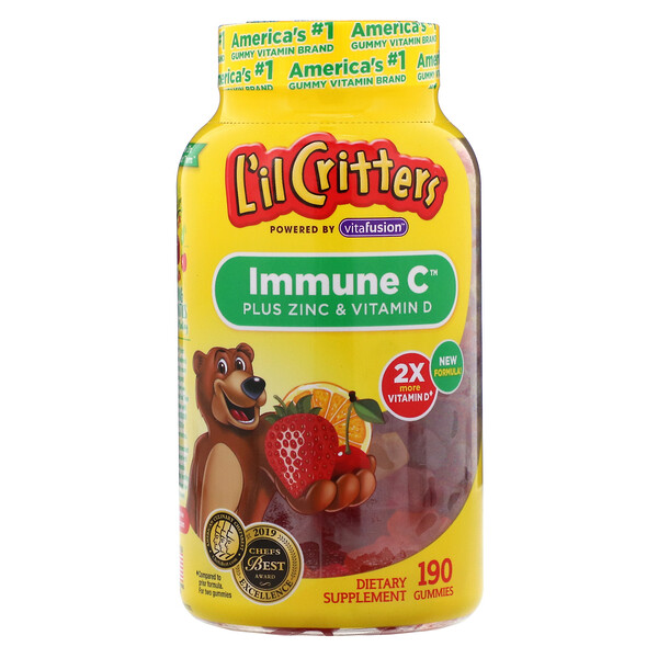 Immune C Plus Zinc & Vitamin D, 190 Gummies
