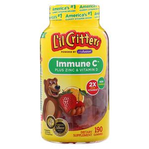 Лил Криттерс, Immune C Plus Zinc & Vitamin D, 190 Gummies отзывы покупателей