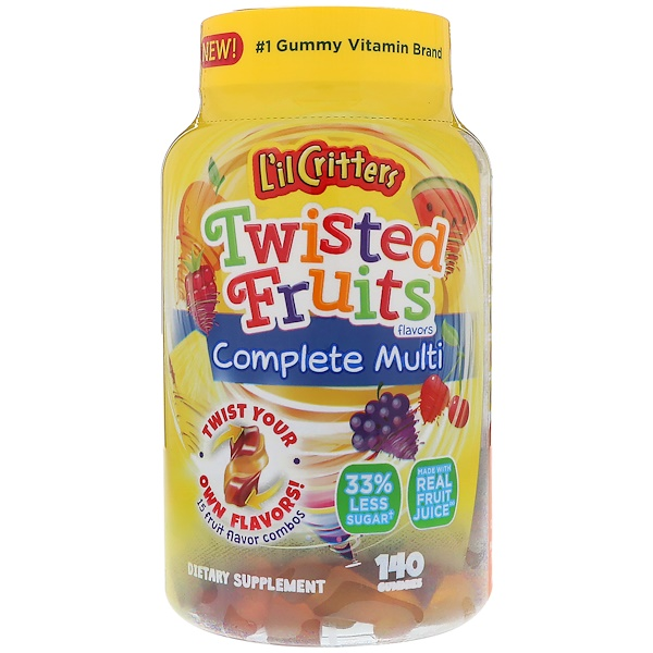 Twisted Fruits Complete Multivitamin, 140 Gummies