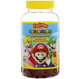 L'il Critters, Super Mario Power Ups Complete Multivitamin, Natural Fruit Flavors, 190 Gummies