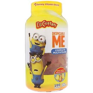 L'il Critters, Despicable Me完整多種維生素,天然水果味,190粒軟糖
