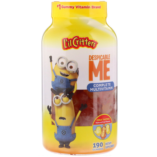L'il Critters, Despicable Me Complete Multivitamin, Natural Fruit Flavors, 190 Gummies