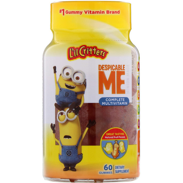 L'il Critters, Despicable Me Complete Multivitamin, Natural Fruit Flavors, 60 Gummies (Discontinued Item)