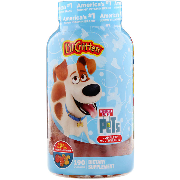 L'il Critters, Complete Multivitamin, Secret Life of Pets, Natural Fruit Flavors, 190 Gummies