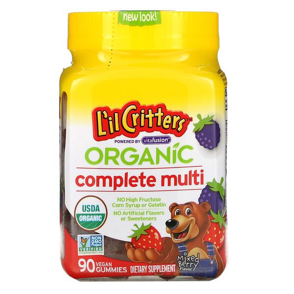 L'il Critters, Organic Complete Multi, Mixed Berry, 90 Vegan Gummies