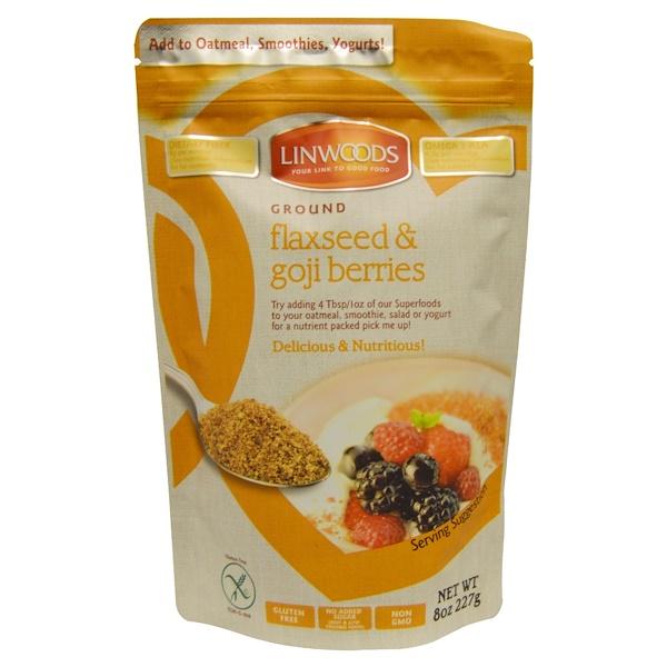 Linwoods, Ground Flaxseed & Goji Berries, 8 oz (227 g) (Discontinued Item)