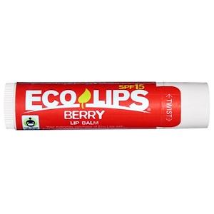 Эко Липс Инк, Lip Balm, SPF 15, Berry, .15 oz (4.25 g) отзывы