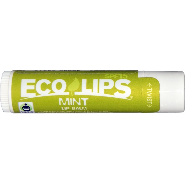 Eco Lips Inc., Lip Balm, SPF 15, Mint, .15 oz (4.25 g)