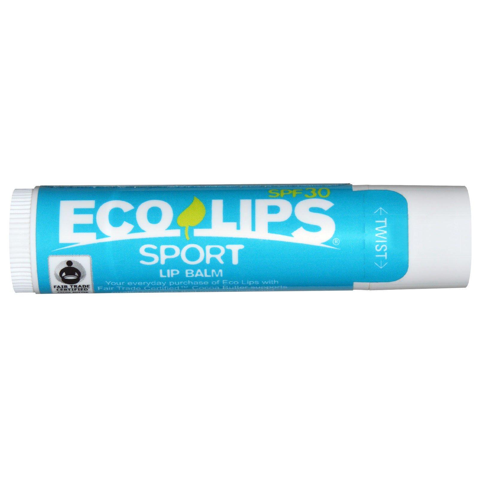 Eco Lips - Sport Lip Balm Vanilla 30 SPF - 0.15 oz. (6 Pack) ITS SKIN Macaron Lip Balm #04 Pineapple