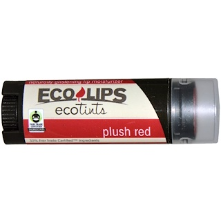 Eco Lips Inc., Ecotints, Lip Moisturizer, Plush Red, .15 oz (4.25 g)