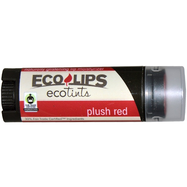 Eco Lips Inc., Ecotints, Lip Moisturizer, Plush Red, .15 oz (4.25 g) (Discontinued Item)