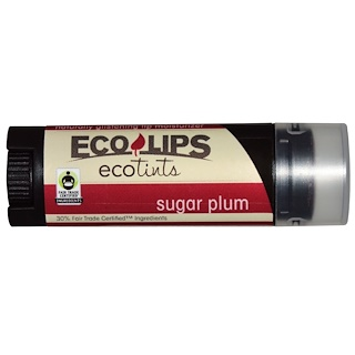 Eco Lips Inc., Ecotints, Lip Moisturizer, Sugar Plum, .15 oz (4.25 g)