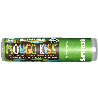 Eco Lips Inc., Mongo Kiss, Lip Balm, Peppermint, .25 oz (7 g)