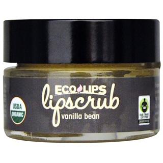 Eco Lips Inc., Organic, Lipscrub, Vanilla Bean, .5 oz (14.2 g)