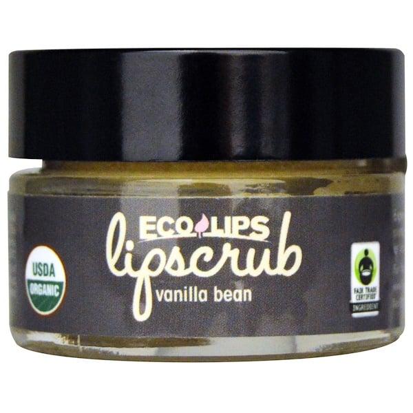 Eco Lips Inc., Органический, скраб для губ, Стручки ванили, .5 унций (14.2 г) (Discontinued Item)
