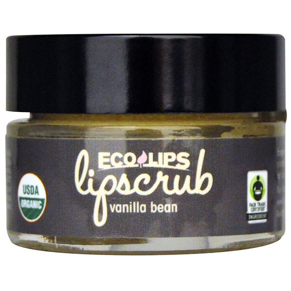 Eco Lips Inc、, Organic, Lipscrub, Vanilla Bean, 、5 oz (14、2 g)