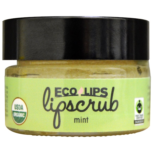 Eco Lips, Organic, Lipscrub, Mint, .5 oz (14.2 g) (Discontinued Item)