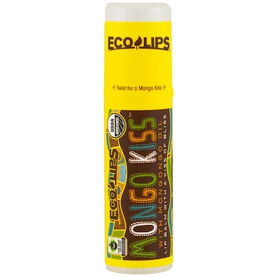 Eco Lips Inc. Mongo Kiss(蒙剛果之吻),潤唇膏,香蕉味,0.25 盎司(7 克)