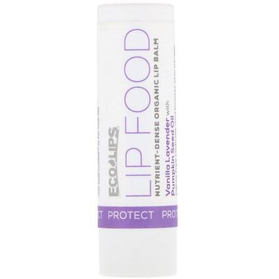 Eco Lips Inc. Lip Food, Protect, Nutrient-Dense Organic Lip Balm, Vanilla Lavender, .15 oz (4.25 g)