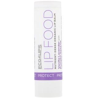 Eco Lips Inc., Lip Food, Protect, Nutrient-Dense Organic Lip Balm, Vanilla Lavender, .15 oz (4.25 g)