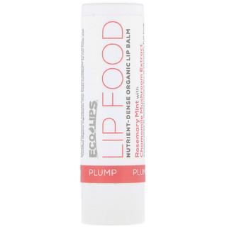Eco Lips Inc., Lip Food, Plump, Nutrient-Dense Organic Lip Balm, Rosemary Mint, .15 oz (4.25 g)