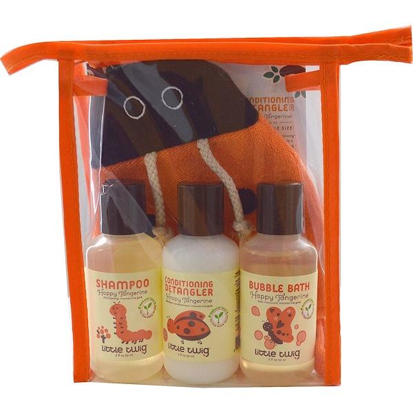 Little Twig, Travel Basics Set, Tangerine Bug, 4 Piece Set (Discontinued Item)