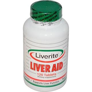 Liverite, Ayuda para el hígado, 120 pastillas