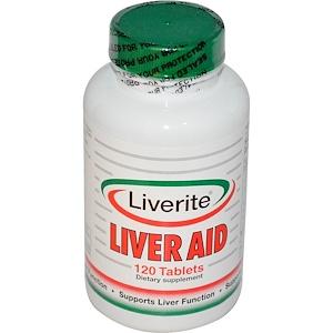 Ливерите, Liver Aid, 120 Tablets отзывы