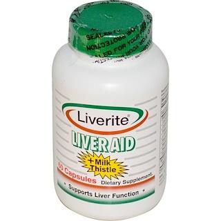 Liverite, Liver Aid, 60 Capsules