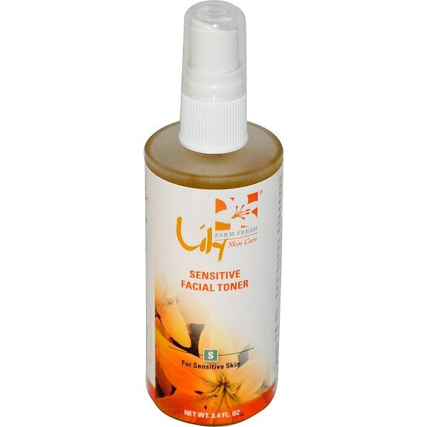 Lily Organics, Inc., Sensitive Facial Toner, For Sensitive Skin, 3.4 fl oz (Discontinued Item)