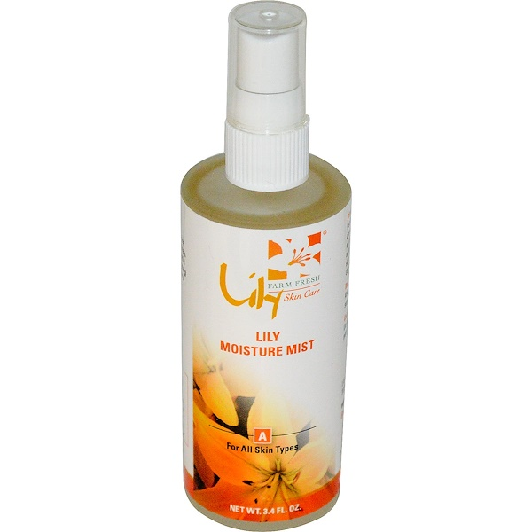 Lily Organics, Inc., Lily Moisture Mist, For All Skin Types, 3.4 fl oz (Discontinued Item)