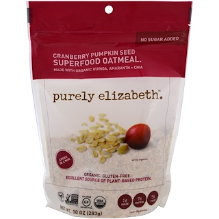 Purely Elizabeth, Superfood Oatmeal, Cranberry Pumpkin Seed, 10 oz (283 g)