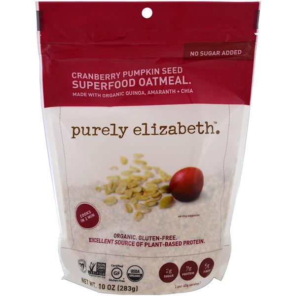 Purely Elizabeth, 超級食物燕麥,蔓越莓南瓜子,10盎司(283克)